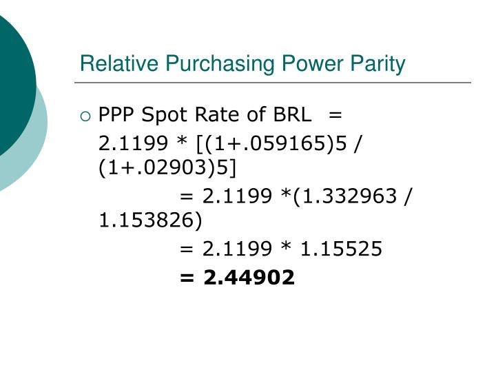 Relative Purchasing Power Parity