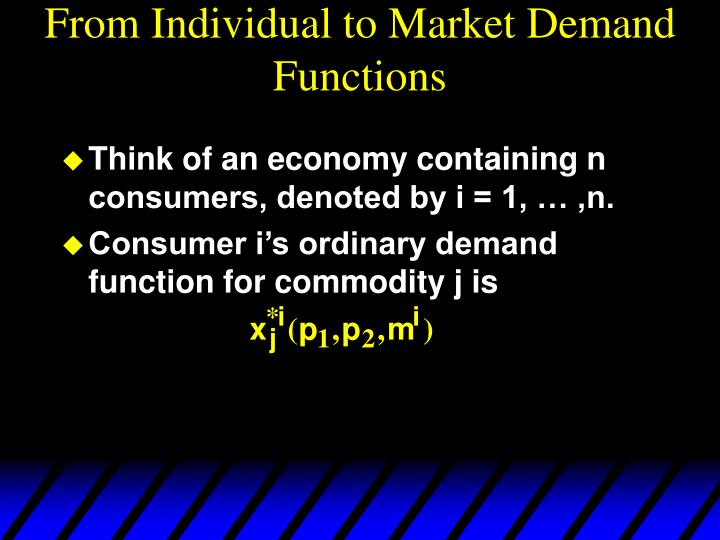 From Individual to Market Demand Functions