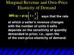 marginal revenue and own price elasticity of demand3