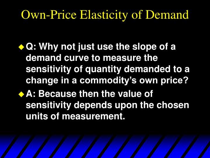 Own-Price Elasticity of Demand