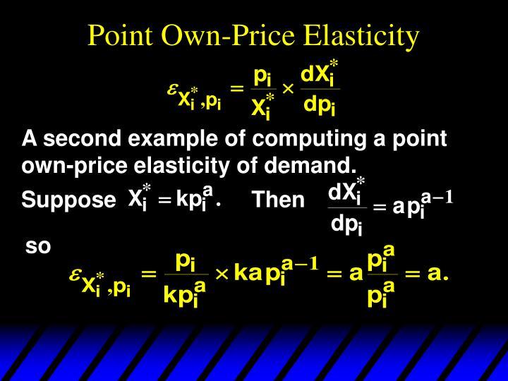 Point Own-Price Elasticity
