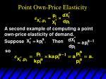 point own price elasticity6