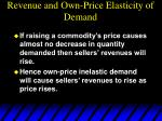 revenue and own price elasticity of demand