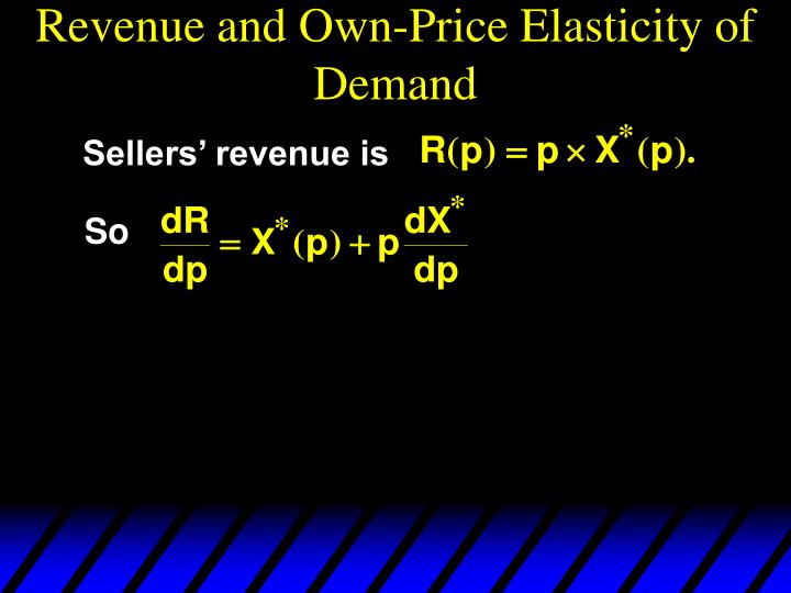 Revenue and Own-Price Elasticity of Demand