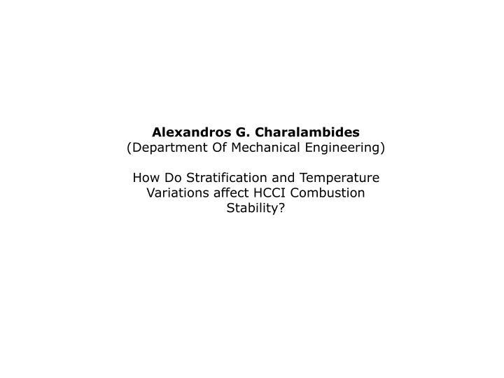 Alexandros G. Charalambides