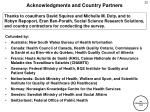 acknowledgments and country partners