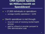cmh system spends 6 million month on spenddown
