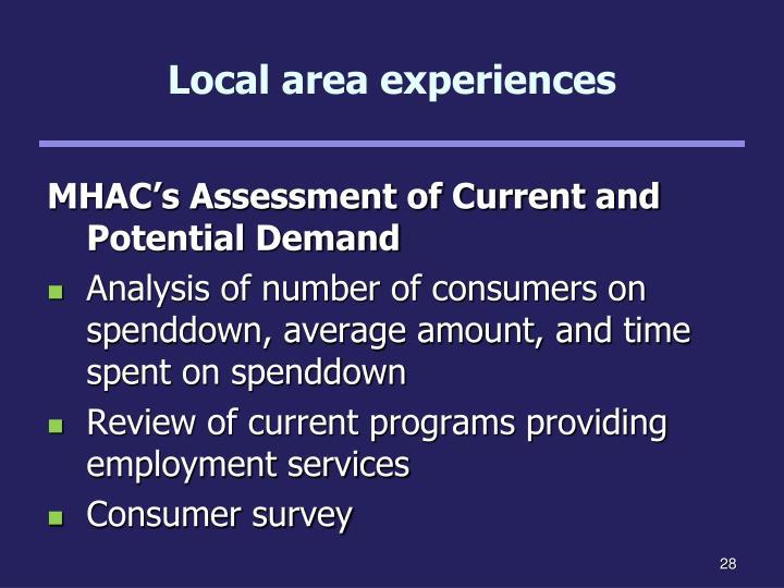 Local area experiences