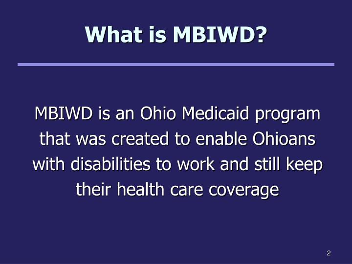What is MBIWD?