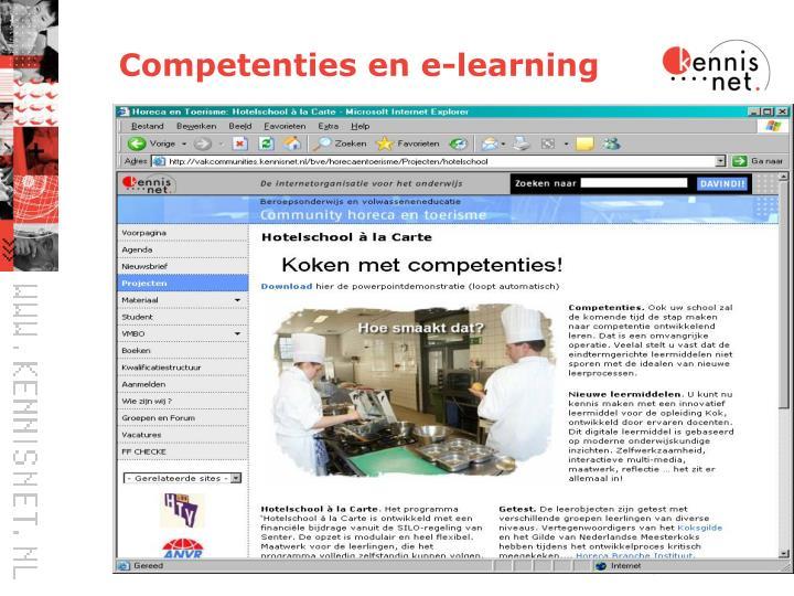 Competenties en e-learning