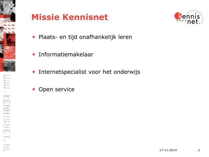 Missie Kennisnet