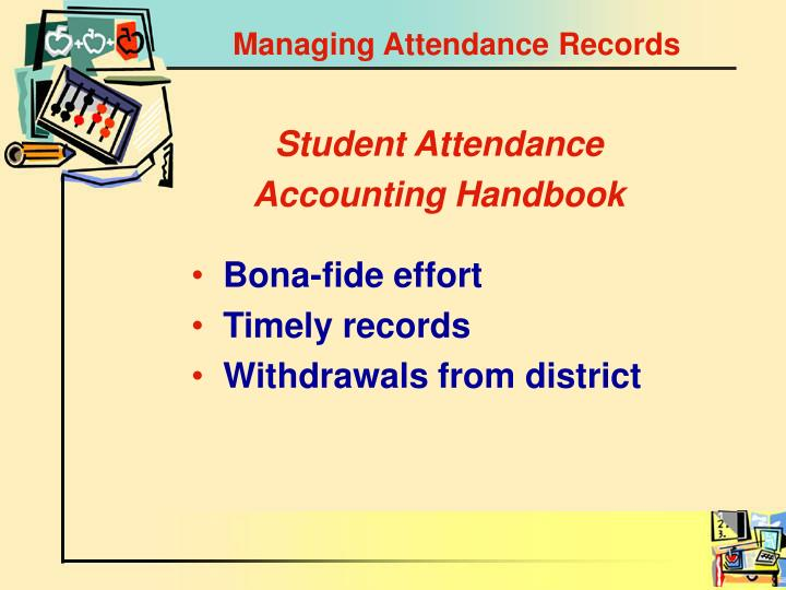 Managing Attendance Records