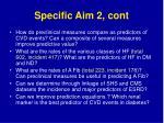 specific aim 2 cont