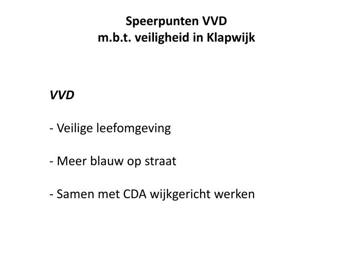 Speerpunten VVD