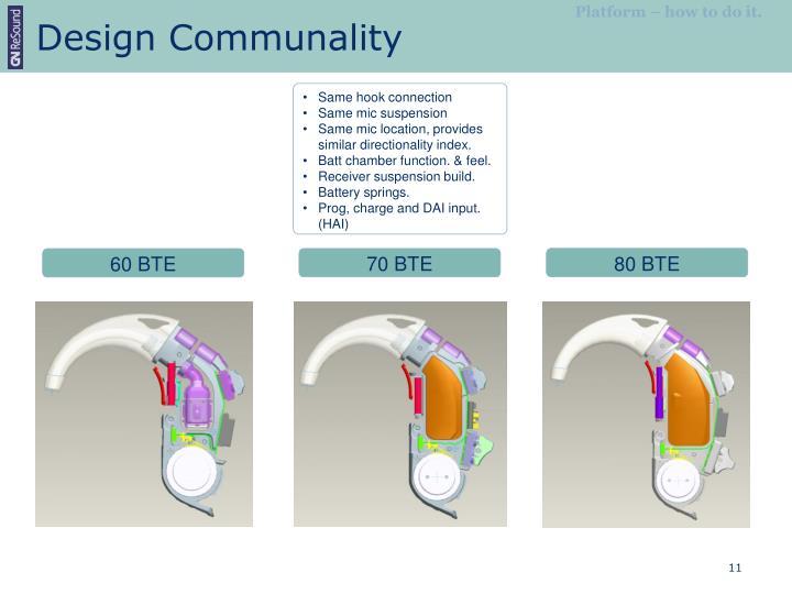 Design Communality