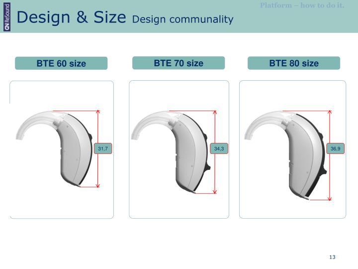 Design & Size
