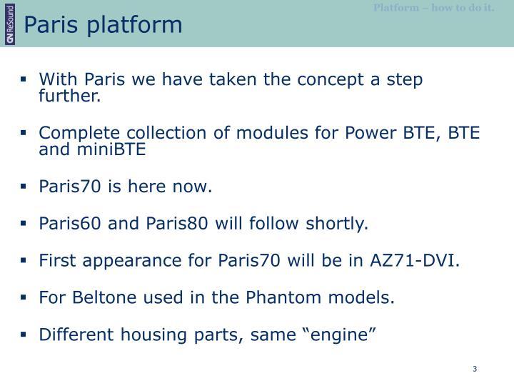 Paris platform