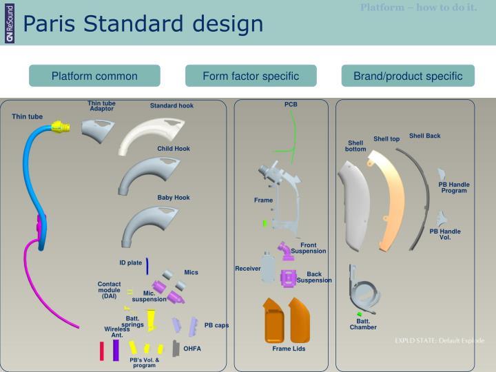 Paris Standard design