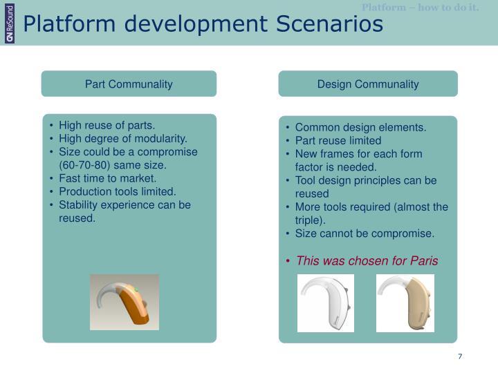 Platform development Scenarios