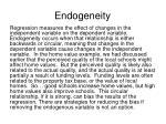 endogeneity