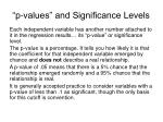 p values and significance levels