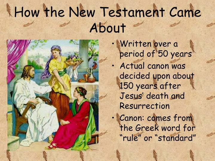 How the New Testament Came About