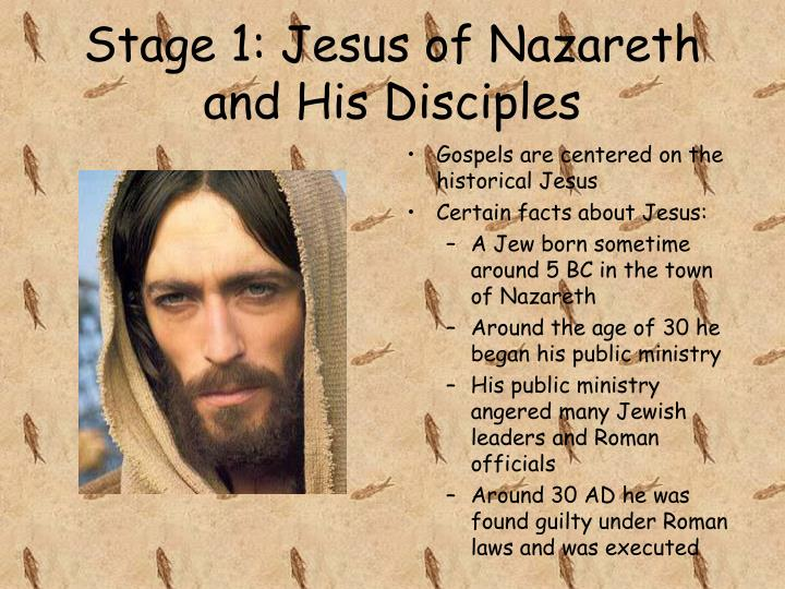 Stage 1: Jesus of Nazareth and His Disciples