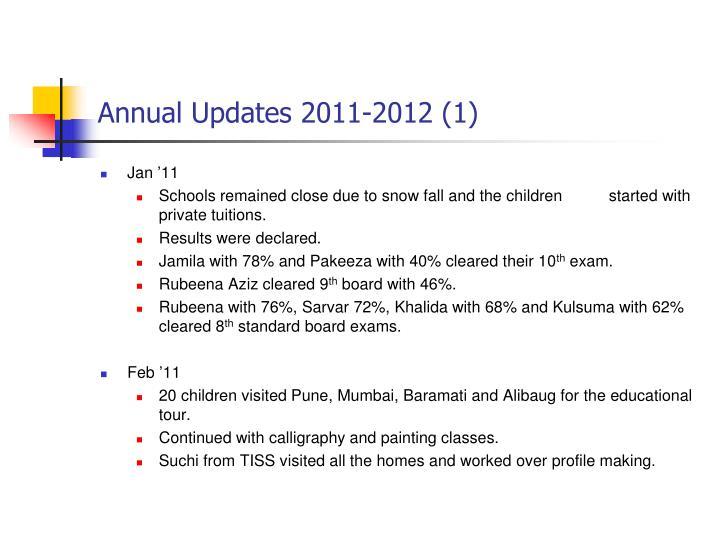 Annual Updates 2011-2012 (1)