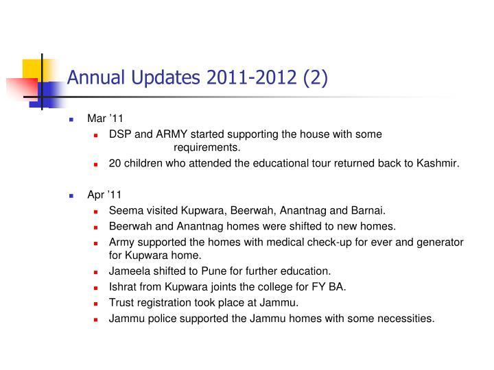 Annual Updates 2011-2012 (2)
