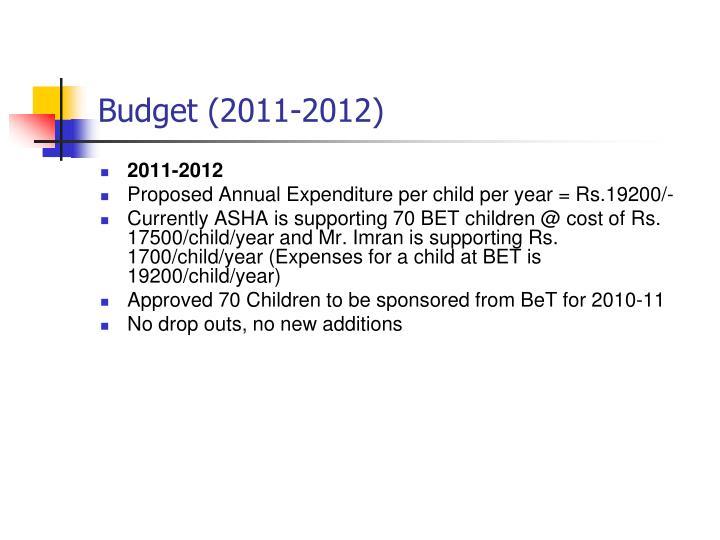 Budget (2011-2012)