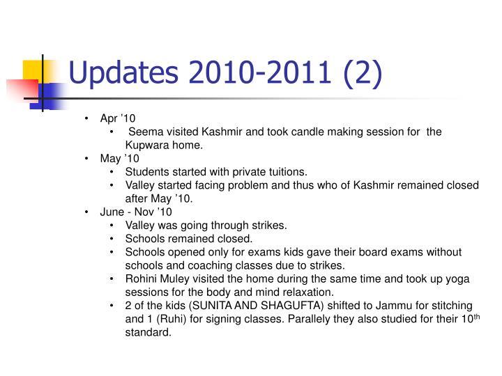 Updates 2010-2011 (2)
