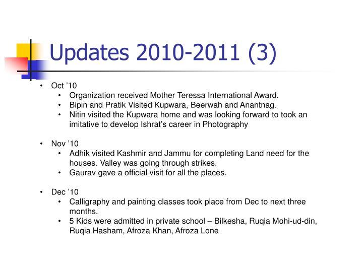 Updates 2010-2011 (3)