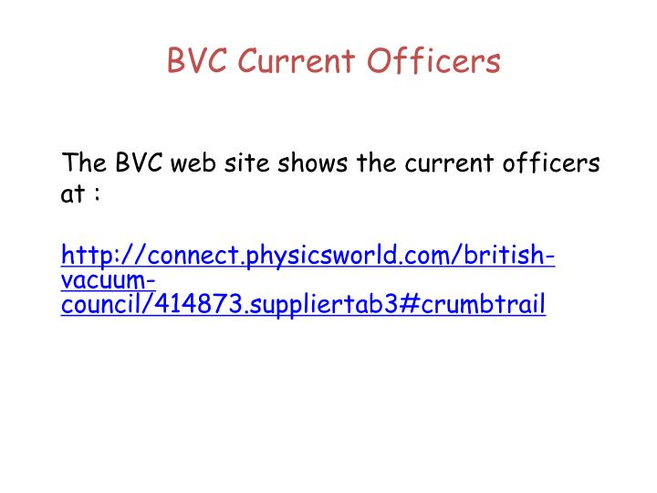 BVC Current Officers