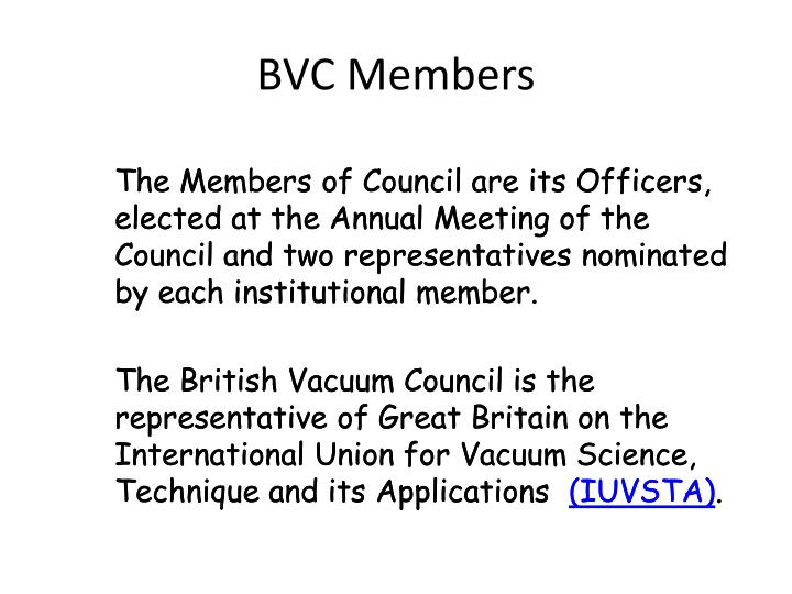 BVC Members