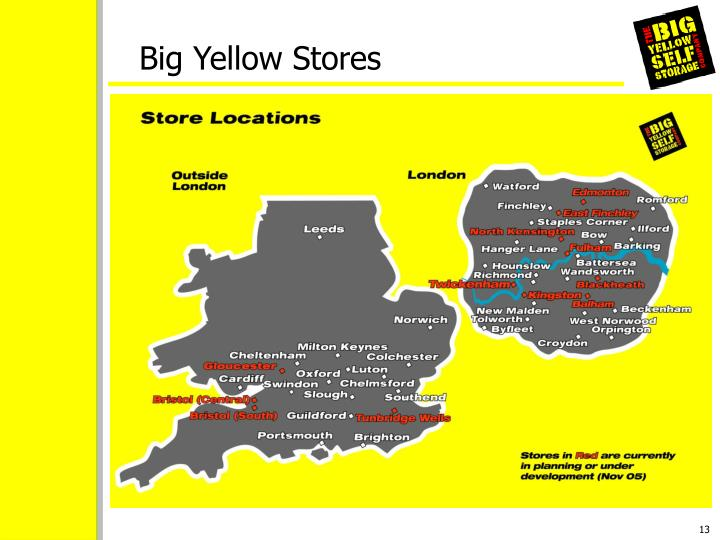 Big Yellow Stores