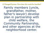 a changed system how does this work for families2