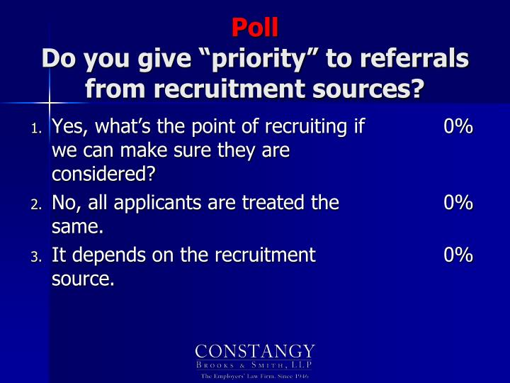 Yes, what's the point of recruiting if we can make sure they are considered?