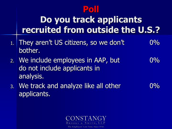 They aren't US citizens, so we don't bother.