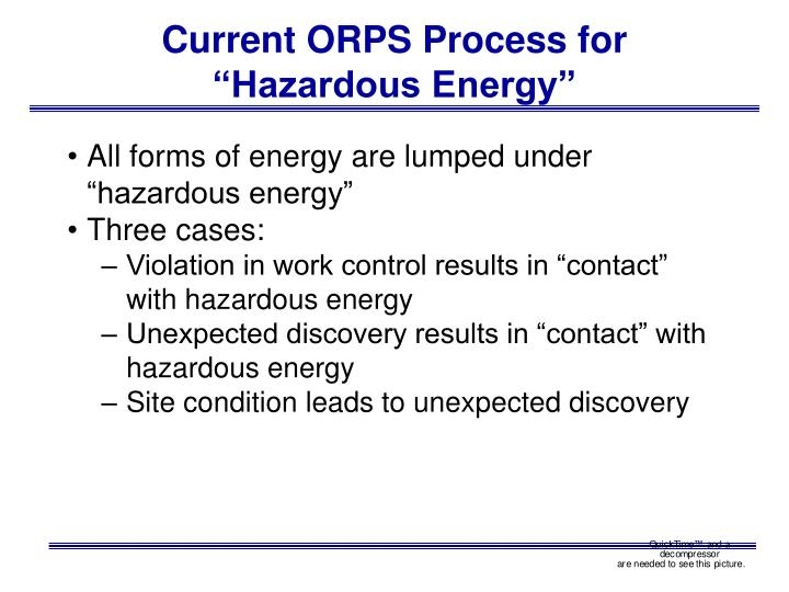 Current ORPS Process for