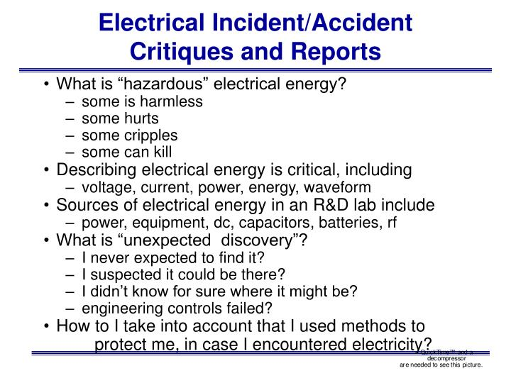 Electrical Incident/Accident