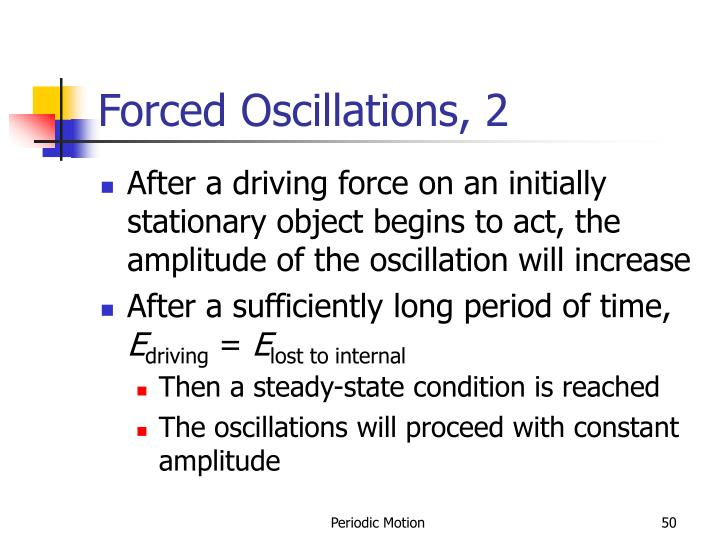 Forced Oscillations, 2