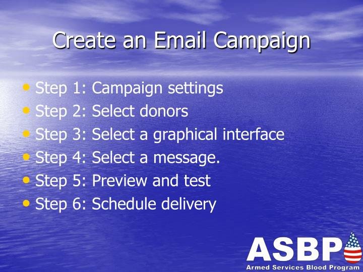 Create an Email Campaign