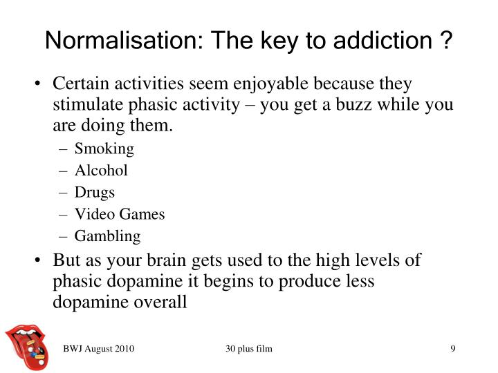 Normalisation: The key to addiction ?