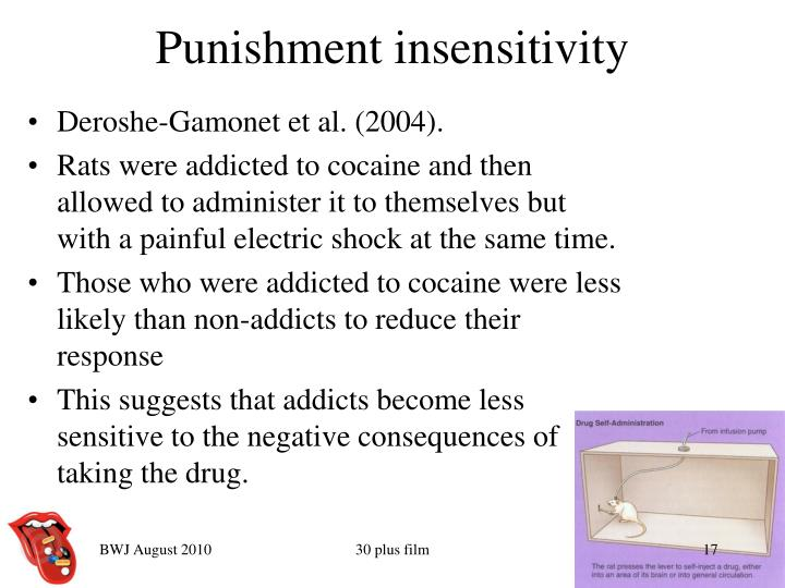Punishment insensitivity