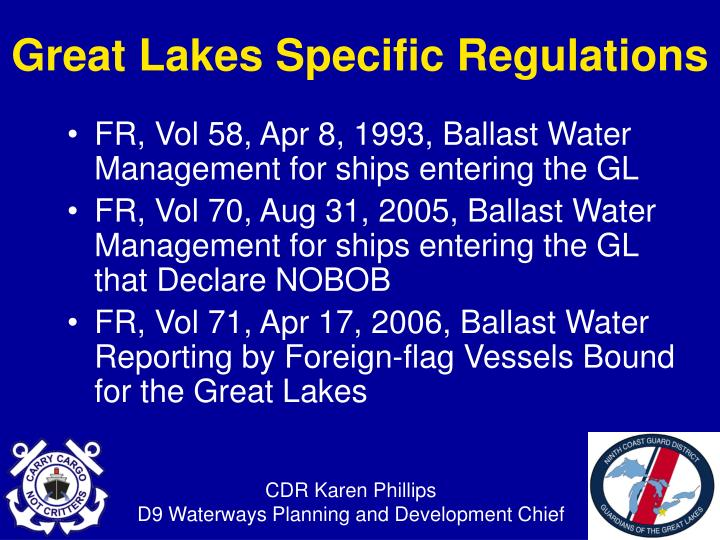 FR, Vol 58, Apr 8, 1993, Ballast Water Management for ships entering the GL