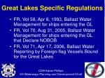 great lakes specific regulations