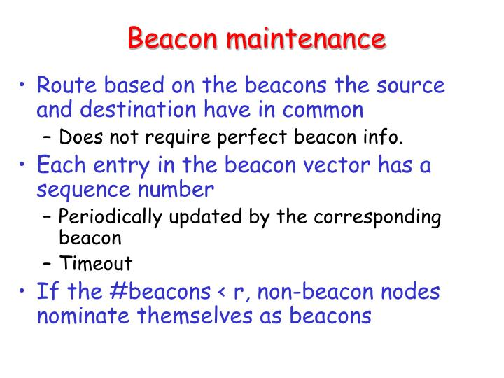 Beacon maintenance