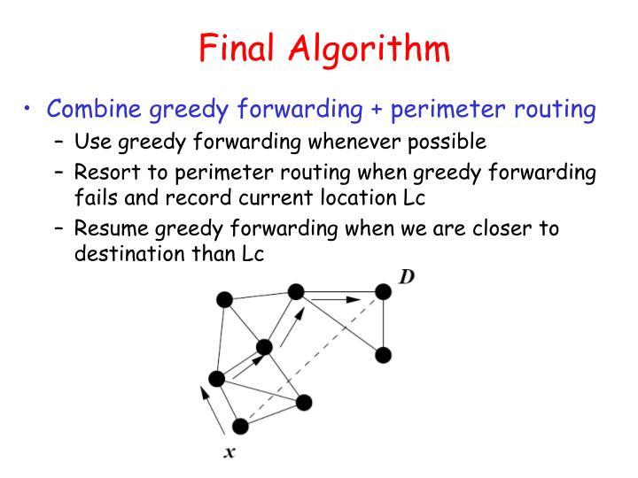 Final Algorithm