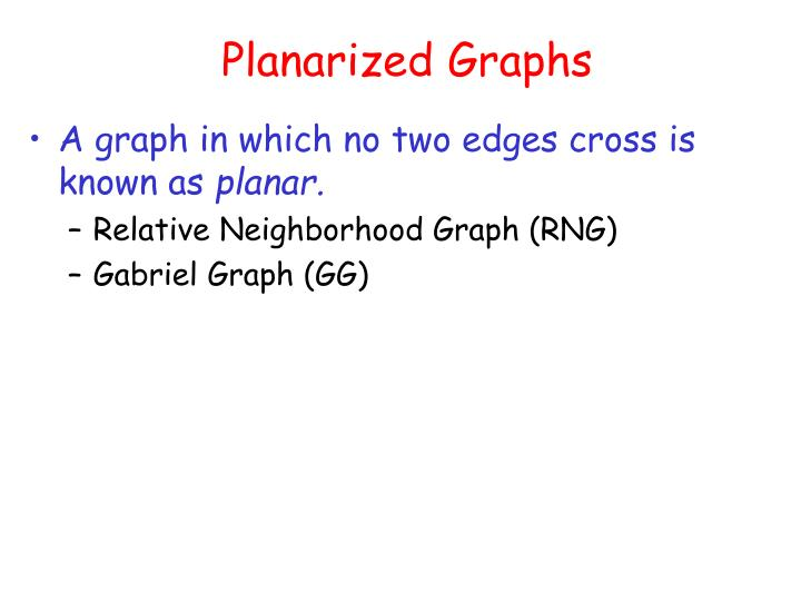 Planarized Graphs