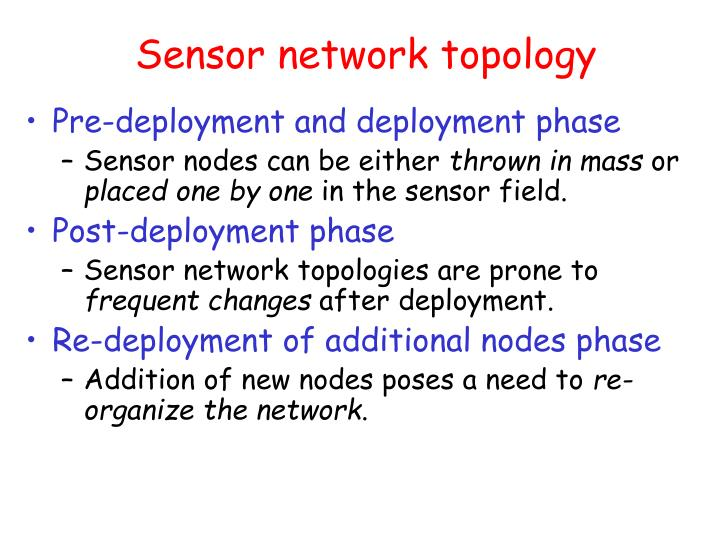 Sensor network topology